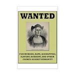 Columbus Wanted Poster Mini Poster Print