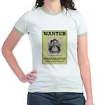Columbus Wanted Poster Jr. Ringer T-Shirt