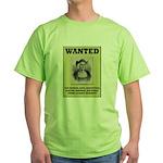 Columbus Wanted Poster Green T-Shirt