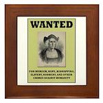 Columbus Wanted Poster Framed Tile