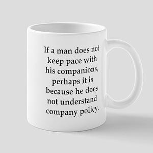 If Thoreau worked in manageme Mug