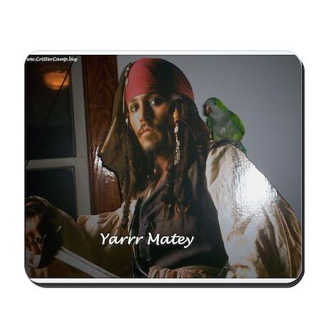 Peter the Quaker Parrot Yarr Mousepad
