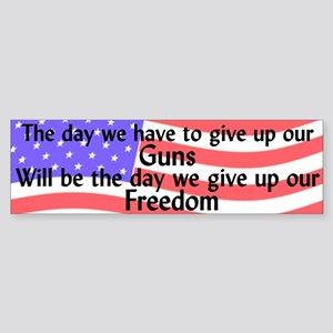 Gun Freedom Bumper Sticker