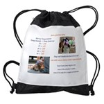 Cars Too Hot for Dogs Drawstring Bag
