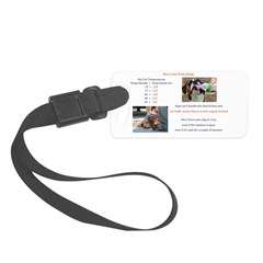 Cars Too Hot For Dogs Luggage Tag
