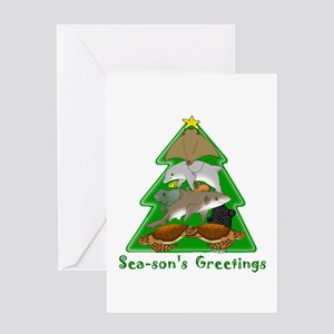 Sea-son's Greetings Greeting Card