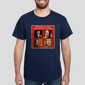"""America's Friends & Enemies"" Dark T-Shirt"