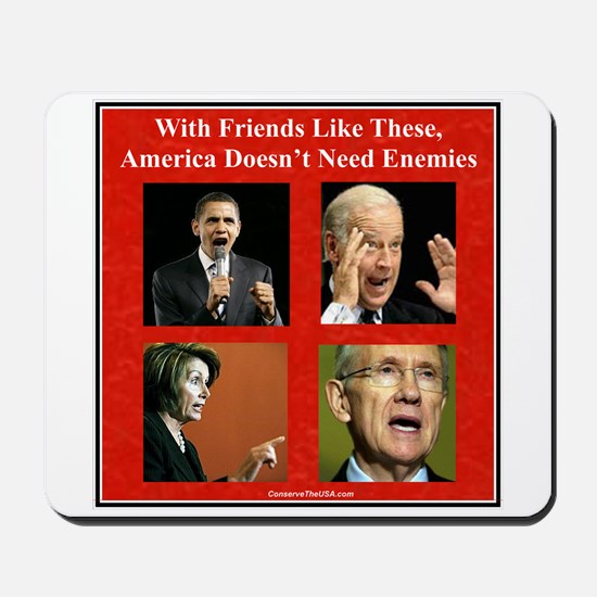 """America's Friends & Enemies"" Mousepad"