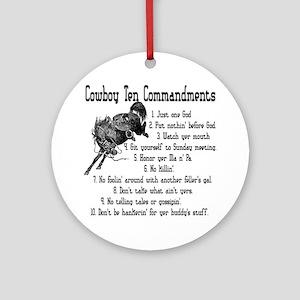 Cowboy Ten Commandments Keepsake (Round)
