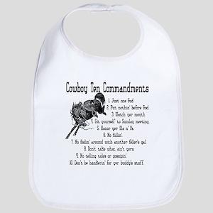 Cowboy Ten Commandments Bib