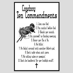 Cowboy Ten Commandments Large Poster
