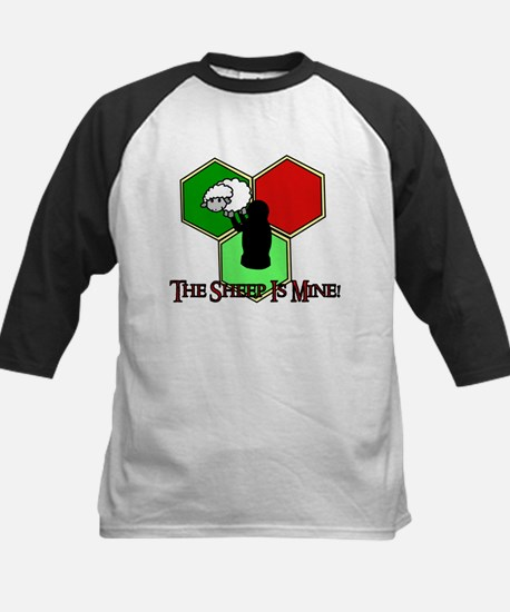 The Sheep Is Mine Catan Kids Baseball Jersey