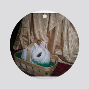 Yang Bunny in a basket Ornament (Round)