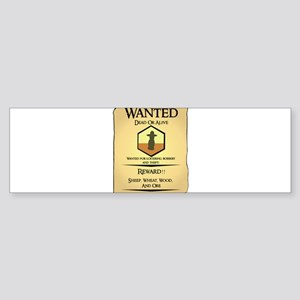 Catan Wanted Poster Bumper Sticker