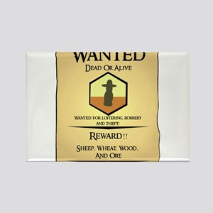 Catan Wanted Poster Rectangle Magnet