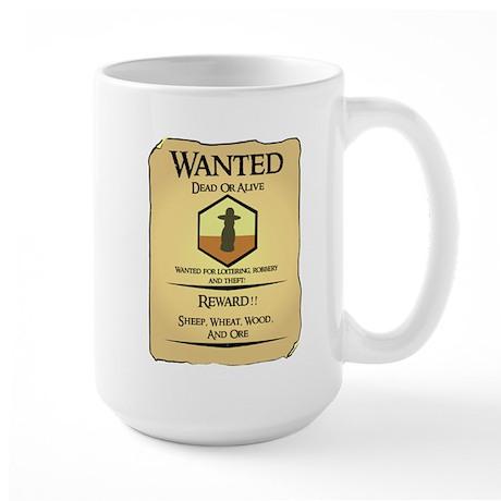 Catan Wanted Poster Large Mug