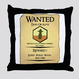 Catan Wanted Poster Throw Pillow