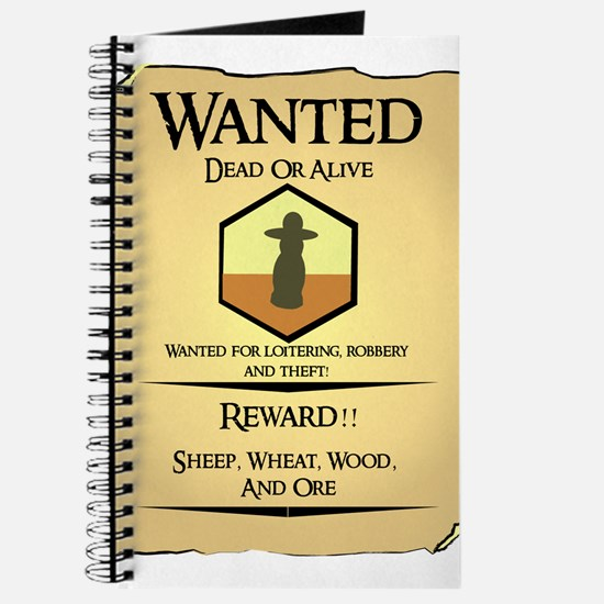 Catan Wanted Poster Journal