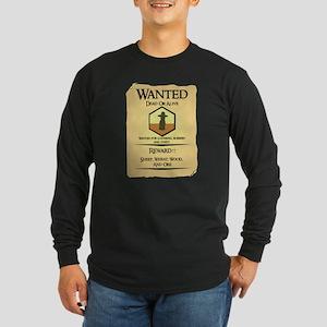 Catan Wanted Poster Long Sleeve Dark T-Shirt