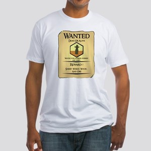 Catan Wanted Poster Fitted T-Shirt