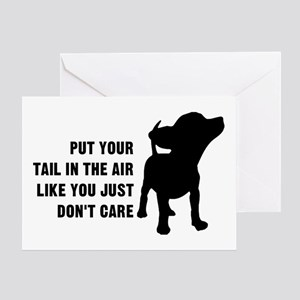 Put Tail Air Greeting Card