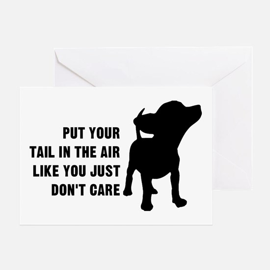 Put Tail Air Greeting Card