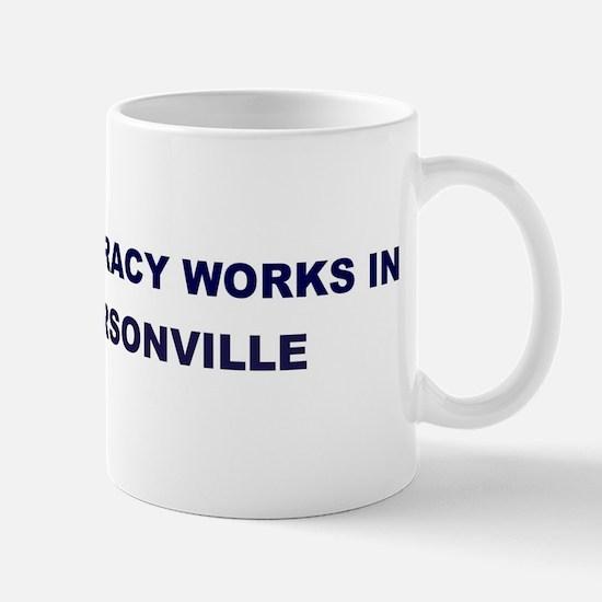 Democracy Works in HENDERSONV Mug