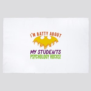 Im Batty About Students Psychology Roc 4' x 6' Rug