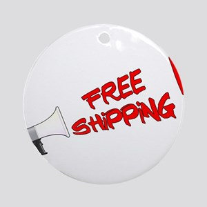 Free Shipping Megaphone Round Ornament