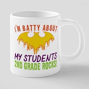 Im Batty About Students 2nd Grade Rocks Hallo Mugs