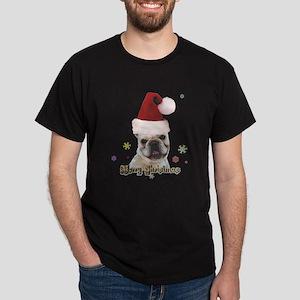 Christmas French Bulldog Dark T-Shirt