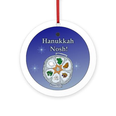 Hanukkah Nosh Keepsake (Round Ornament)
