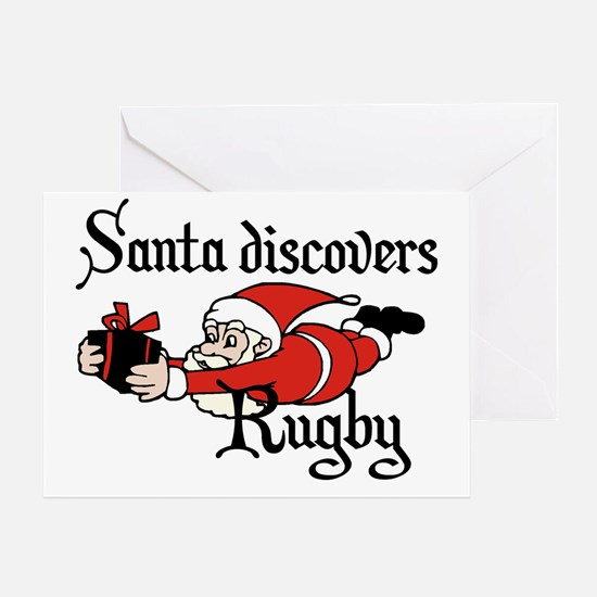 Santa Rugby Christmas Greeting Card