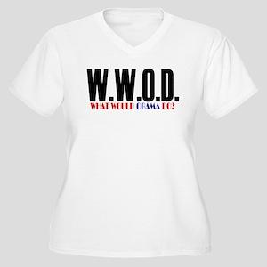 Barack Obama -- WWOD Women's Plus Size V-Neck T-Sh