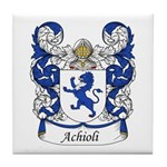 Achioli Family Crest Tile Coaster