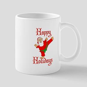 Karate Kicking Santa Mug