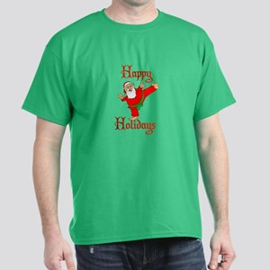 Karate Kicking Santa Dark T-Shirt
