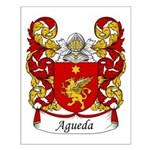 Agueda Family Crest Small Poster