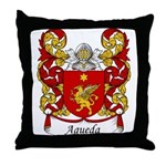 Agueda Family Crest Throw Pillow