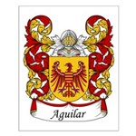 Aguilar Family Crest Small Poster