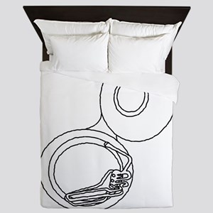 Rough Tuba Drawing Queen Duvet