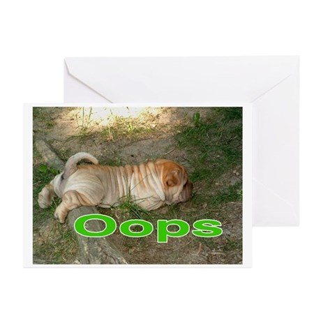 Oops Pei Greeting Cards (Pk of 10)