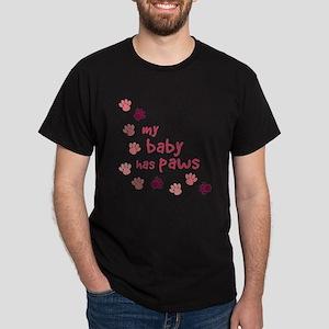 My Baby has Paws Dark T-Shirt