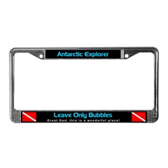 Antarctica License Plate Frame