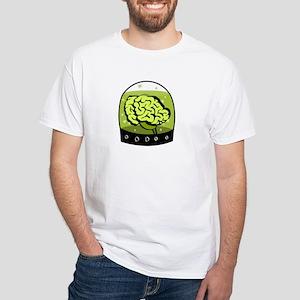 """""""Human Brain in a Jar"""" White T-Shirt"""