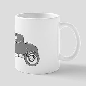 Mug-Vintage V8 Hot Rod-Silver