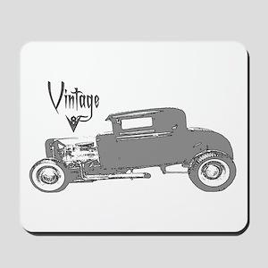 Mousepad-Vintage V8 Hot Rod-Silver