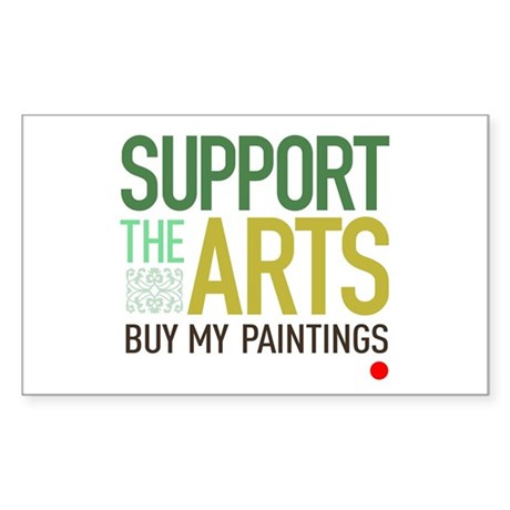 Support the Arts Artist's Rectangle Sticker