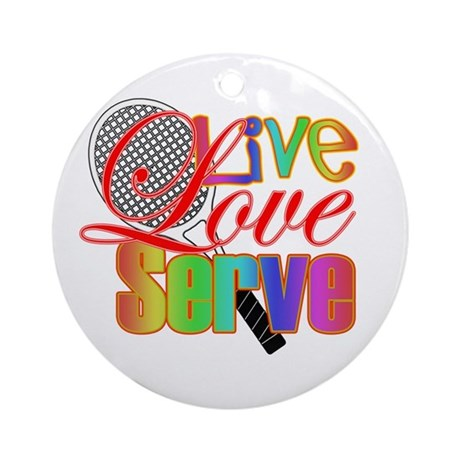 Live, Love, Serve Ornament (Round)