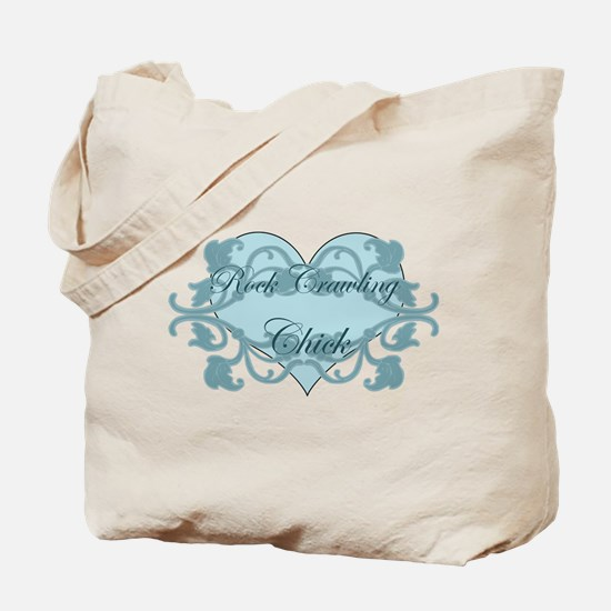 Rock Crawling Chick Cute Tote Bag